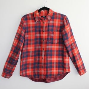 Madewell Flannel Button Down Shirt XS